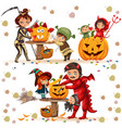 halloween family colorful set vector image