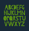 hand drawn alphabet with organic texture vector image vector image