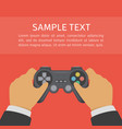 hands holding gamepad vector image vector image