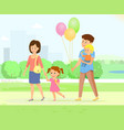 happy family in park vector image vector image