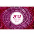 Happy new year 2017 halftone banner vector image vector image