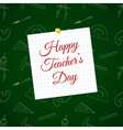 Happy Teacher s Day over cell sheet vector image vector image