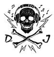 head a dead dj vector image