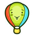 hot air balloon in cartoon style vector image