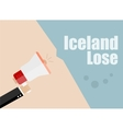 Iceland lose Flat design business vector image vector image