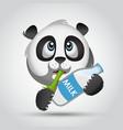 Icon panda with milk vector image vector image