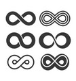 infinity symbol icons set vector image vector image