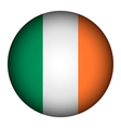 Ireland flag button vector image vector image