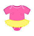 isolated baby dress icon vector image