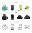isolated object drink and bar sign collection vector image vector image