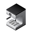 isometric coffee machine vector image vector image