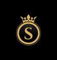 letter s royal crown luxury logo design vector image vector image
