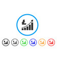 litecoin growth trend rounded icon vector image vector image