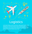 logistics concept top view vector image vector image