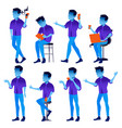 man set modern gradient colors people in vector image