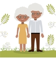 Old woman and man design vector image vector image