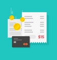 online payment concept with money or cash receipt vector image vector image
