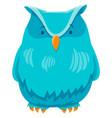 owl bird funny animal cartoon character vector image vector image