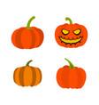 pumpkin icon set flat style vector image
