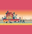 riot in city prison cartoon concept vector image