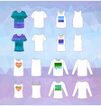 Set of clothing icons vector image vector image