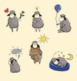 set of funny sheep vector image