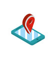 smartphone gps location social media isometric vector image