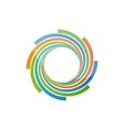 Spiral design logo vector image vector image