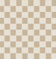 Square beige seamless fabric texture pattern vector image