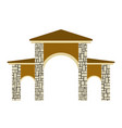 stone columns of a gate vector image