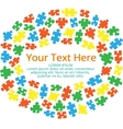 Text box with puzzles 03 vector image