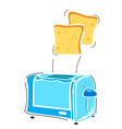 toaster with slice vector image vector image