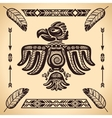 Tribal american eagle sign vector image
