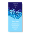 two paper cut palms vector image vector image