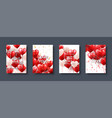 valentines day abstract card template banner with vector image vector image
