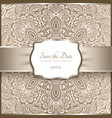 vintage background with lace pattern and label vector image