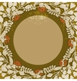 Vintage floral circular frame vector image vector image