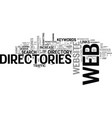 Web directories for seo text word cloud concept vector image