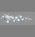 winter decoration with snow vector image