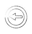 figure arrow symbol icon mobile sign vector image