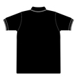 back side of polo shirt Silhouetted vector image