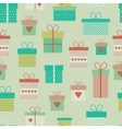 seamless pattern with flat gift boxes vector image