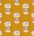 Sketch take away coffee vector image