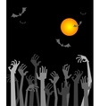 The zombies hands vector image
