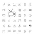 33 media icons vector image vector image