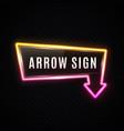 3d retro arrow sign on transparent background vector image
