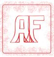 AF monogram vector image vector image