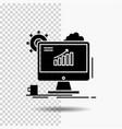 analytics chart seo web setting glyph icon on vector image vector image