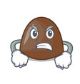angry chocolate candies mascot cartoon vector image