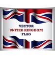 background of united kingdom flag art vector image vector image